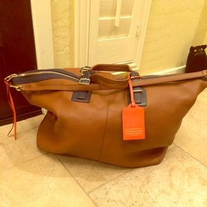 Gorgeous large Coach weekend bag!  All leather!
